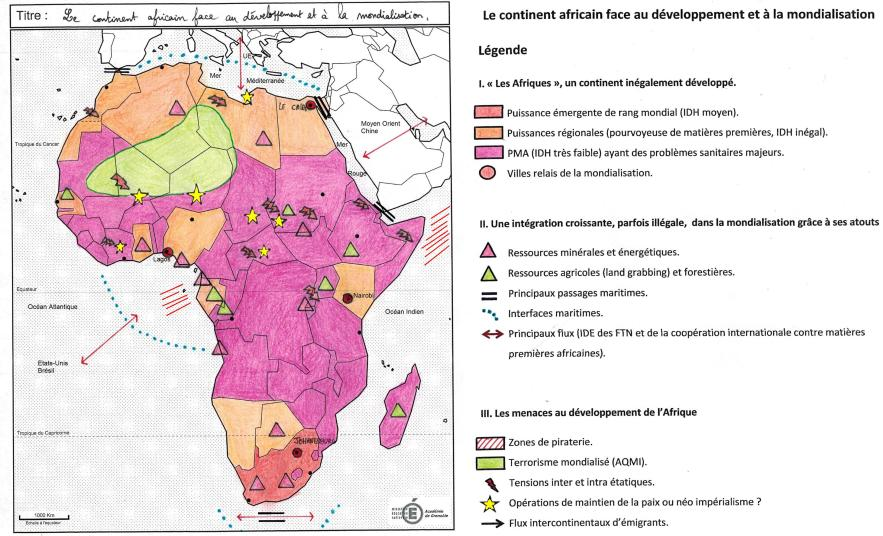 croquis le continent africain